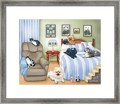 The Schofield S Bedroom  Framed Print by Catia Cho