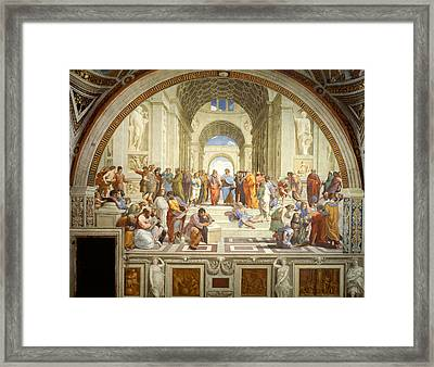 The School Of Athens Framed Print by Raphael