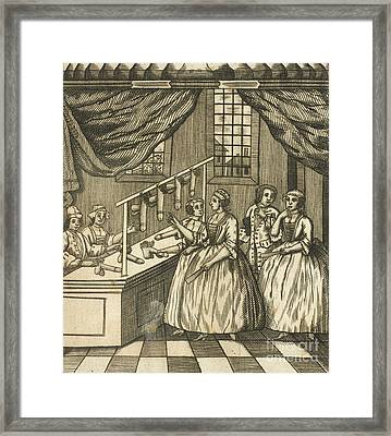 The School Of Women, 17th Century Framed Print by British Library