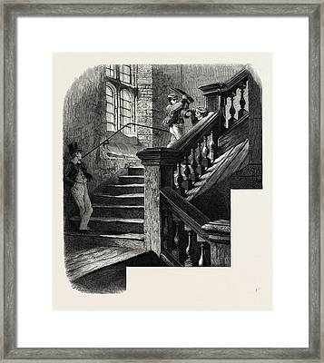 The School Staircase, Eton, Uk Framed Print by English School