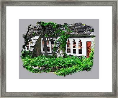 The Schoolhouse At The Clearing - Ellison Bay - Door County Wisconsin Framed Print by David Blank