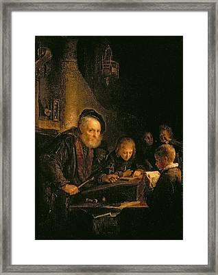 The Schoolmaster, 1645 Framed Print