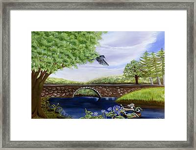 The Schuykill River Framed Print