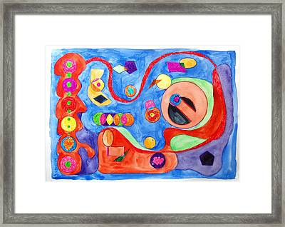 Framed Print featuring the painting The Science Of Shapes 1 by Esther Newman-Cohen