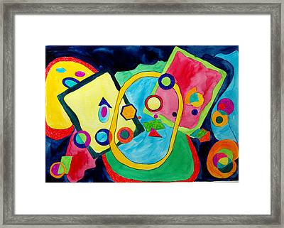 Framed Print featuring the painting The Science Of Shapes 2 by Esther Newman-Cohen