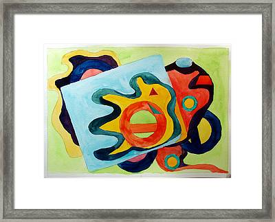 Framed Print featuring the painting The Science Of Shapes 3 by Esther Newman-Cohen