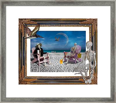 The Scientist's Vacation Framed Print by Betsy Knapp