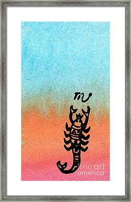 The Scorpion Framed Print by R Kyllo