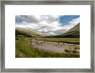 Framed Print featuring the photograph The Scotish Landscape by Sergey Simanovsky