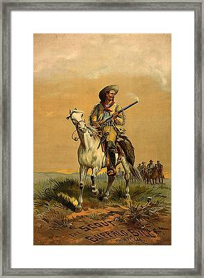 The Scout Buffalo Bill Framed Print by Unknown