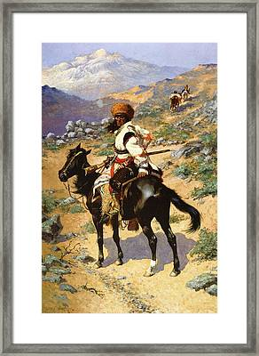 The Scout Friends Or Enemies Framed Print by Frederic Remington