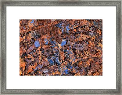 The Scrap Pile Framed Print