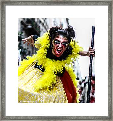 Framed Print featuring the photograph The Scream Crusher by Stwayne Keubrick