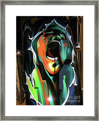 The Scream - Pink Floyd Framed Print by Susan Carella