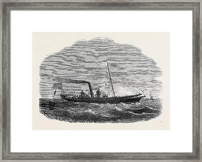 The Screw Clipper Yacht Gazelle Framed Print by English School