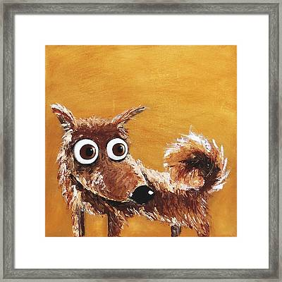 The Scruffy Dog Framed Print by Lucia Stewart
