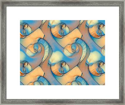 The Sea And The Sand Abstract Framed Print by Georgiana Romanovna