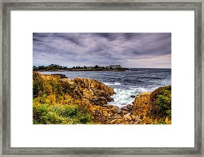 The Sea At Kennebunkport Framed Print
