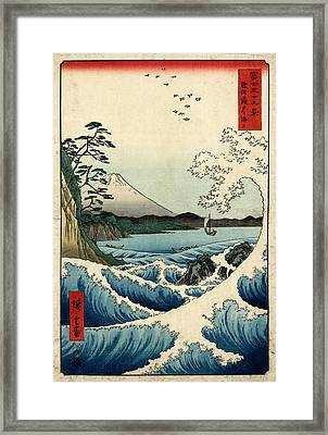 The Sea At Satta In Suruga Province Framed Print by Georgia Fowler