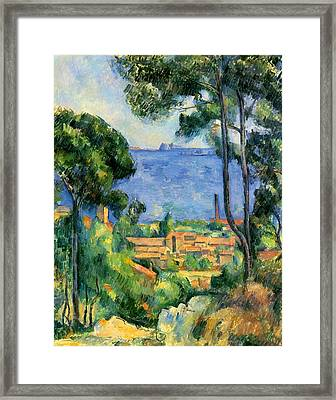 The Sea At The Estaque Framed Print by Paul Cezanne