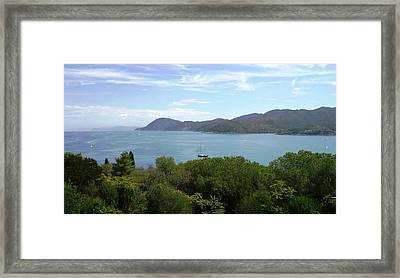 Framed Print featuring the photograph The Sea Beyond by Giuseppe Epifani
