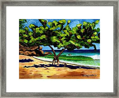 Framed Print featuring the painting The Sea-grape Tree by Laura Forde