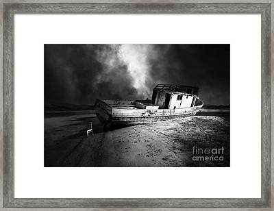 The Sea Never Gives Up Her Dead Dsc2099 Bw Framed Print by Wingsdomain Art and Photography