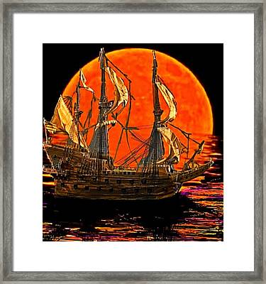 The Sea Of Broken Dreams Framed Print by Larry E  Lamb