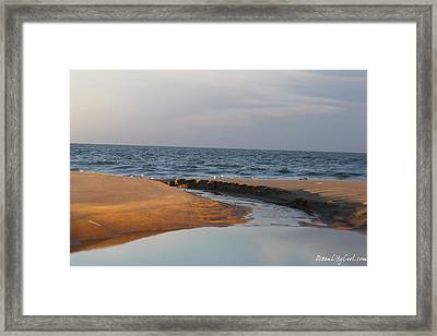 Framed Print featuring the photograph The Sea Overcomes by Robert Banach