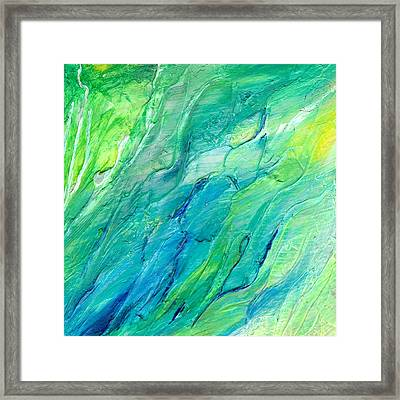 The Sea Framed Print by Rosie Brown