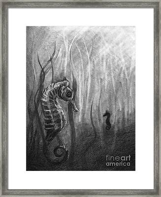 Framed Print featuring the drawing The Sea Spell by J Ferwerda