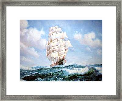 The Sea Vessel Framed Print by Anny Huang