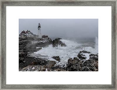 The Sea Was Angry  Framed Print by Joe Faragalli