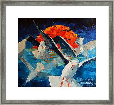 The Seagulls 2 Framed Print by Mona Edulesco