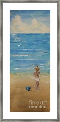 The Seagulls Framed Print by Almeta LENNON