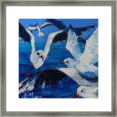 The Seagulls Framed Print by Mona Edulesco