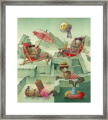 The Seal Beach Framed Print by Kestutis Kasparavicius