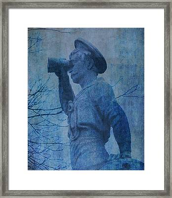 The Seaman In Blue Framed Print by Lesa Fine