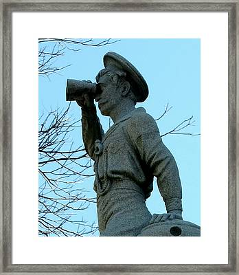 The Seaman Torso Framed Print by Lesa Fine