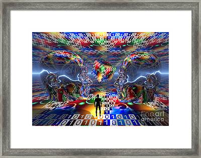 The Search For Extraterrestrial Life Framed Print by Mark Stevenson