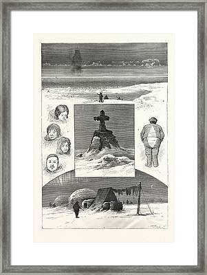 The Search For Sir John Franklin, 1. Nearing Ice-pack. 2 Framed Print