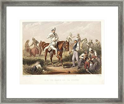 The Search For The Wounded Framed Print by British Library