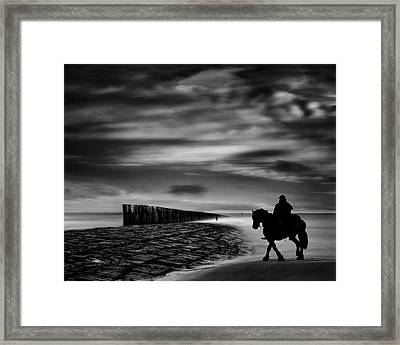 The Sea's Voice Speaks To The Soul ... Framed Print