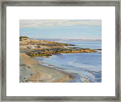 The Seashore Framed Print by Victoria Kharchenko