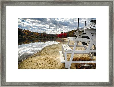The Season Is Over Framed Print by George Oze
