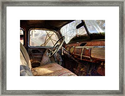 The Seat Of An Old Truck Framed Print