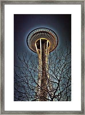 The Seattle Space Needle Iv Framed Print by David Patterson