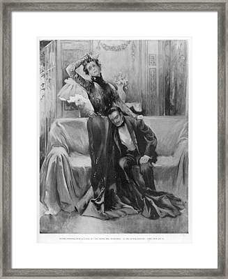 The Second Mrs Tanqueray, Eleonora Duse Framed Print by  Illustrated London News Ltd/Mar