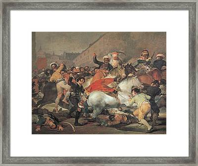 The Second Of May, 1808  The Riot Against The Mameluke Mercenaries Framed Print by Francisco Jose de Goya y Lucientes