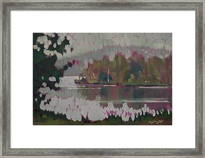The Second Pond Framed Print by Len Stomski